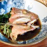郷土料理 五志喜 - 鯛のかぶとの煮付け