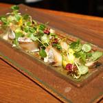 ブルーノート東京 - シマアジのマリネ 夏野菜のサラダ仕立て ライム風味