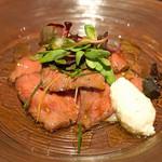 ブルーノート東京 - 国産牛のカルパッチョ 夏野菜 和ソース