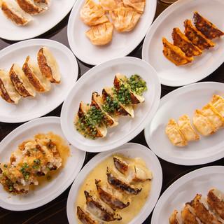 一番人気・全9種餃子食べ放題+料理5品+2H飲み放題付コース