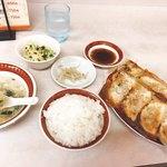 92247907 - 焼き餃子定食720円(^^)