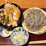 92253856 - 天丼ゴマ蕎麦セット990円