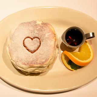 ふわっふわ食感♪人気のパンケーキ!