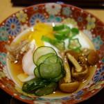蕎麦きり はるきや - 小鉢:温度卵