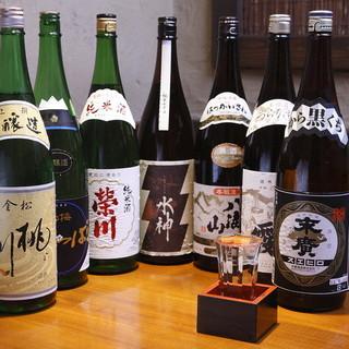 各地の日本酒を御用意しております!