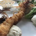 舒服 - しょぼく見える江木フライですが、ぷりっぷりで美味しかったです!(2018.9.6)