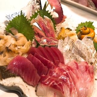 刺身が美味い。魚を丁寧に扱っているから。