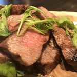 92262339 - 一頭買い黒毛和牛黒毛和牛『門崎熟成肉』本日の部位のステーキ200g。                       美味し。