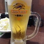やきとり家すみれ - 生ビールは一番搾り通常498円が198円