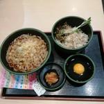 Yudetarou - サバ高菜丼の朝食セット
