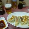 中華料理 萬福 - 料理写真:'18/09/06 ビール大瓶(税込650円)+餃子(税込400円)