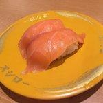 スシロー - 大切りサーモン100円(税別)