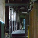 四万温泉 積善館 - 渡り廊下内部