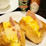 プランタン珈琲商会 - 料理写真:スモークハム & 大盛たまご  のドッグ