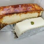 92276912 - 手前が看板商品のレアチーズケーキ260円、奥がペイザンヌ350円
