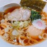 佐野サービスエリア(下り線)レストラン・スナックコーナー - 料理写真:佐野らーめん 煮玉子入り