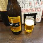 七津屋 - 大ビール(355円):56円/100ml