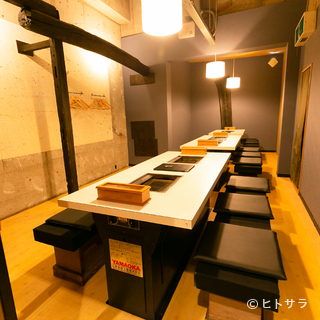 仕切りを外して使うことで、個室の大きさの調整が可能