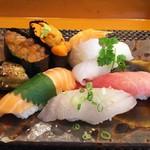 玄海鮨 - 松にぎり  リバースアングル
