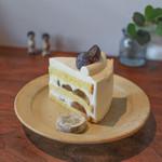 カフェ ユズリ葉 - 料理写真:ぶどうのショートケーキ☆