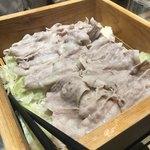 juubeiechigonojizakekakerujukuseibuta - メインの豚肉のせいろ蒸し