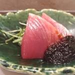 赤坂 鮨葵 - カツオ 玉ねぎ溜まり醤油