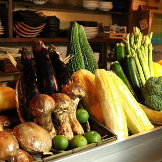 旬野菜を使用した「野菜料理」も多数!