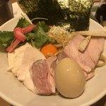 Mugitooribu - 濃厚卵のまぜSOBA(大)+ランチ特製仕様  ¥780+130(税抜) ¥980(税込)