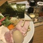 92295965 - 濃厚卵のまぜSOBA(大)+ランチ特製仕様  ¥780+130(税抜) ¥980(税込)