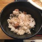 麺屋 大申 - ランチセットの鶏山菜飯。