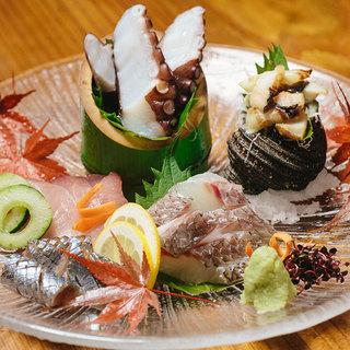 【瀬戸内の鮮魚】お刺身5種盛り¥1500