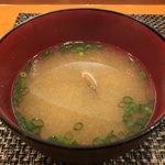 玄海鮨 - 浅利の味噌汁