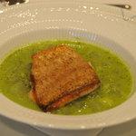 アロマフレスカ 博多 - 長崎赤ムツのポワレ緑のスープ