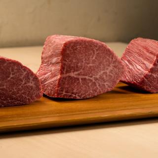 厳選された和牛ヒレ肉の産地別食べ比べ