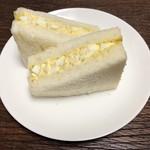 ベーカリーカフェ 高級食パン 嵜本 - タマゴサンドにしてみました。