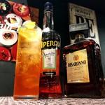 9/7→あんずアペロールソーダー (Italian Cocktail)