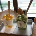 CAROLINE - エディブルミルク マンゴー味とキウイ味