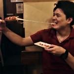大和 笑う焼き鳥屋 ウルル - チーズドッグの上手な食べ方。笑