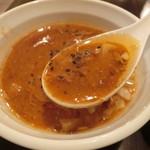 Ramenkappahausu - スープ 黒い粒は、ペッパー