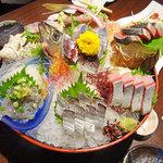 佐島 - 天然地魚お造り盛り合わせ