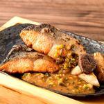 銀鮭のステーキ
