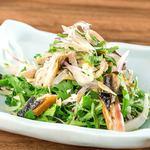 菊菜と炙り鯖の塩酢橘サラダ