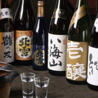 新潟の地酒が充実!コースに+500円で10種が飲み放題!