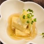元祖博多中洲屋台ラーメン 一竜 - 揚げ出し豆腐