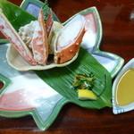 9232265 - 超特選お値打ちBコース:本タラバかにとズワイかにの味くらべかに酢(3,000円)