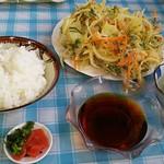 つちや食堂 - ハマグリかき揚げ定食