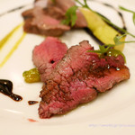 Ginsaipurasu - 短角牛内もも肉のグリル