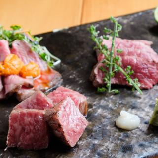 ◆肉料理は全て国産黒毛和牛100%使用(京都産の京の肉)