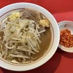 千里眼 - ラーメン 麺140g ヤサイ少なめ・ニンニク・ショウガ・カラアゲ別皿で 750円