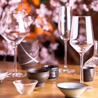 こだわりの厳選日本酒は常備30種ご用意あります。